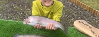My grandson Conner with his catch see text