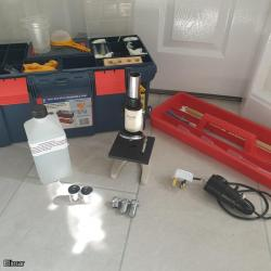 Brunel RM -1 Pigeon Microscope and Accessories