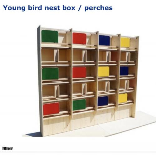 Hermes Germany - Young bird nest box / perches - (LOT 2)